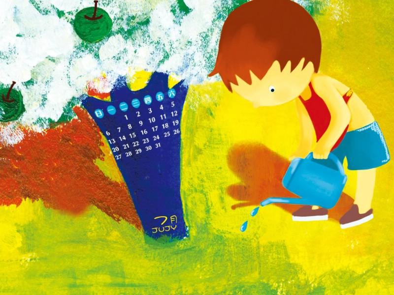 2009 幼儿画报精美插画壁纸 第四集 插画壁纸 插画图片素材