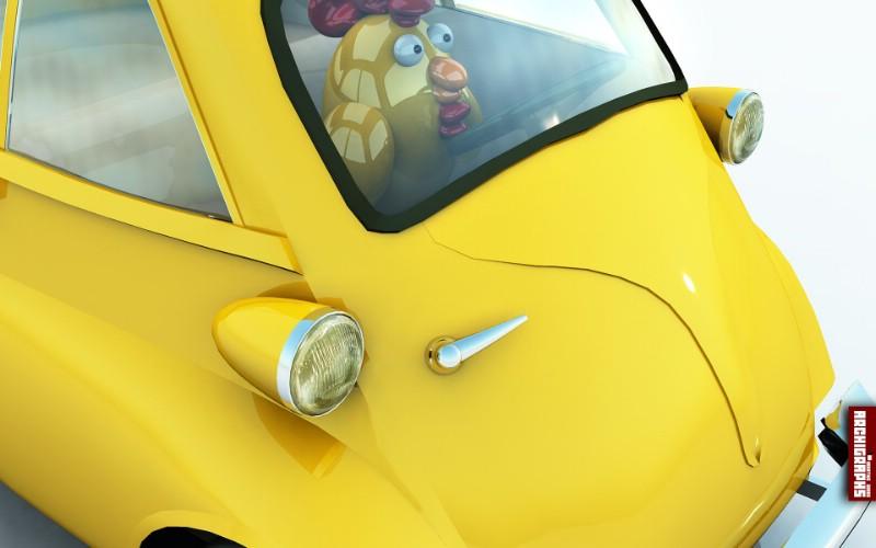 Rooster Driver桌面壁纸壁纸 Archigraphs创意3D动物插画设计壁纸壁纸 Archigraphs创意3D动物插画设计壁纸图片 Archigraphs创意3D动物插画设计壁纸素材 插画壁纸 插画图库 插画图片素材桌面壁纸