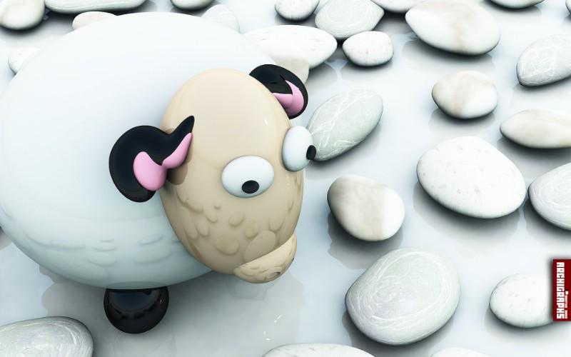 Lonely Sheep桌面壁纸壁纸 Archigraphs创意3D动物插画设计壁纸壁纸 Archigraphs创意3D动物插画设计壁纸图片 Archigraphs创意3D动物插画设计壁纸素材 插画壁纸 插画图库 插画图片素材桌面壁纸