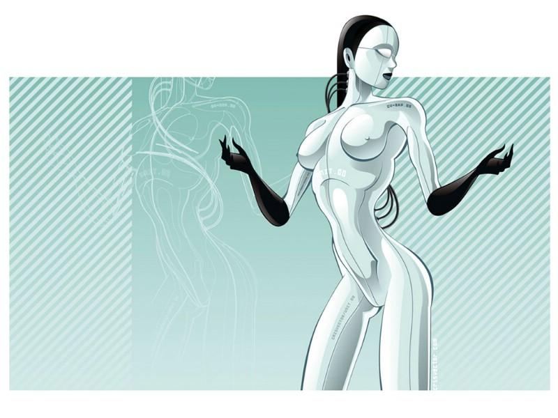 矢量风格插画设计桌面 Computer Art Vector illustration壁纸,...