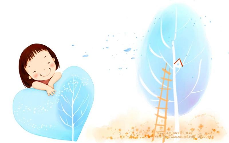 儿童节 可爱儿童插画壁纸