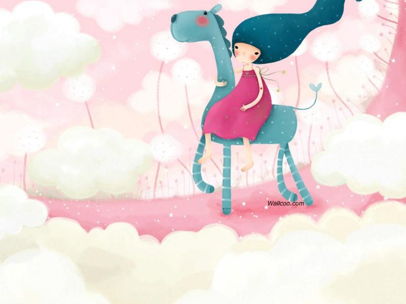 韩国插画名家系列 echi 作品壁纸 第一辑 韩国echi 插画壁...