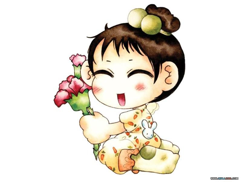 韩国可爱卡通女孩 ruji