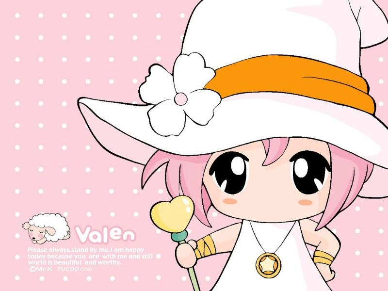 日本MRK卡通女孩valen MRK可爱卡通女孩valen Desktop Wa