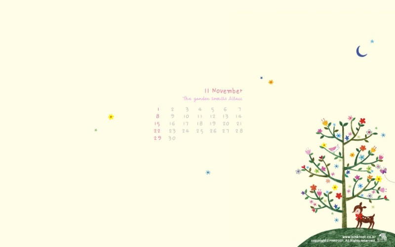 Pinkfoot 11月图片壁纸壁纸 韩国文具品牌Pinkfoot 2009月历插画壁纸壁纸 韩国文具品牌Pinkfoot 2009月历插画壁纸图片 韩国文具品牌Pinkfoot 2009月历插画壁纸素材 插画壁纸 插画图库 插画图片素材桌面壁纸