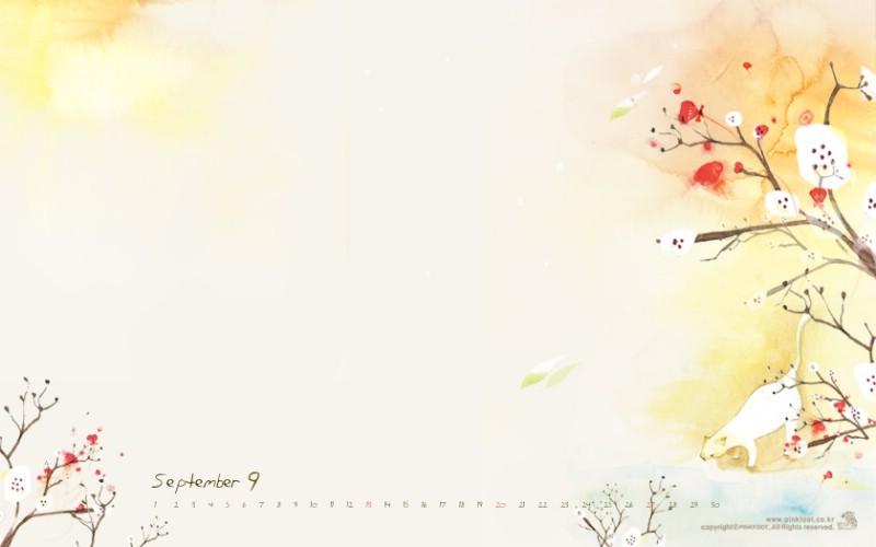 Pinkfoot 9月图片壁纸壁纸 韩国文具品牌Pinkfoot 2009月历插画壁纸壁纸 韩国文具品牌Pinkfoot 2009月历插画壁纸图片 韩国文具品牌Pinkfoot 2009月历插画壁纸素材 插画壁纸 插画图库 插画图片素材桌面壁纸