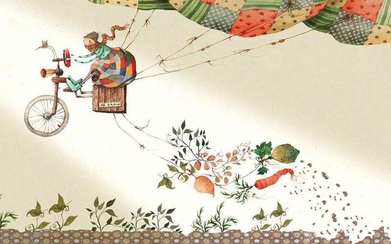儿童绘本插画壁纸素材