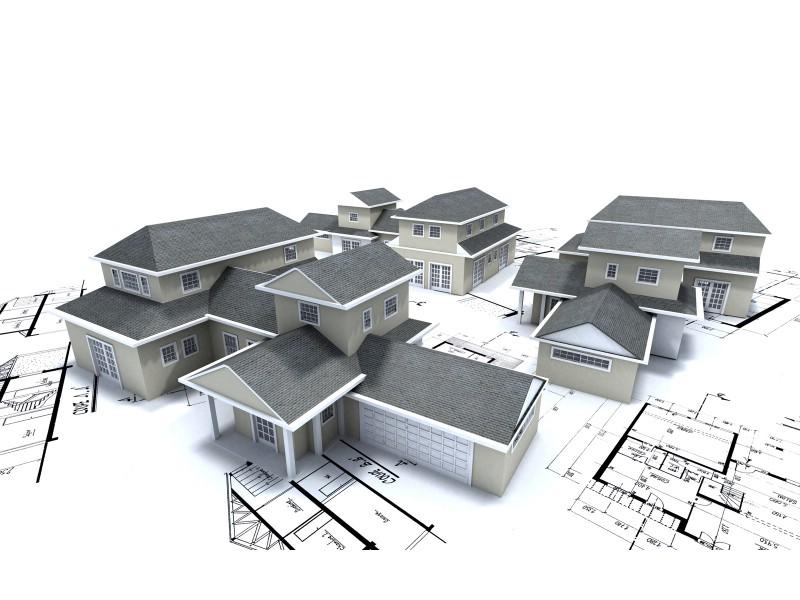 住宅建筑3D设计蓝图壁纸 建筑蓝图壁纸 建筑蓝图图片 建筑蓝图素材 插画壁纸 插画图库 插画图片素材桌面壁纸