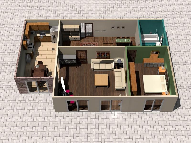建筑蓝图 - 3D建筑施工蓝图、住宅建筑设计蓝图,住宅建筑3...