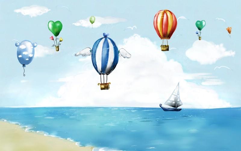 动漫 卡通 漫画 热气球 设计 矢量 矢量图 素材 头像 800_500
