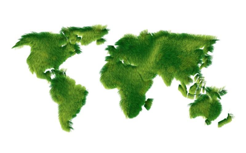绿色地图背景素材