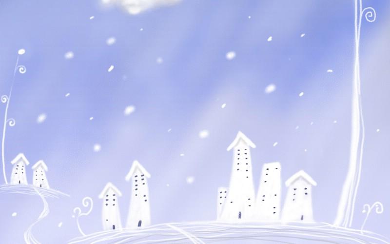故宫雪景壁纸