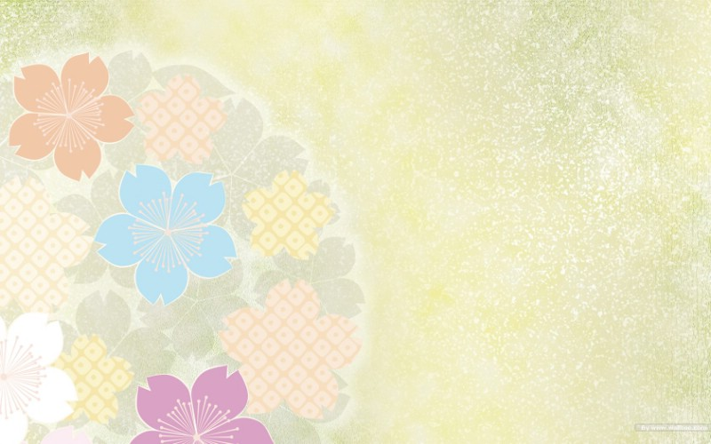 日本风格色彩与图案设计壁纸 甜美浪漫 日本风格色彩图案