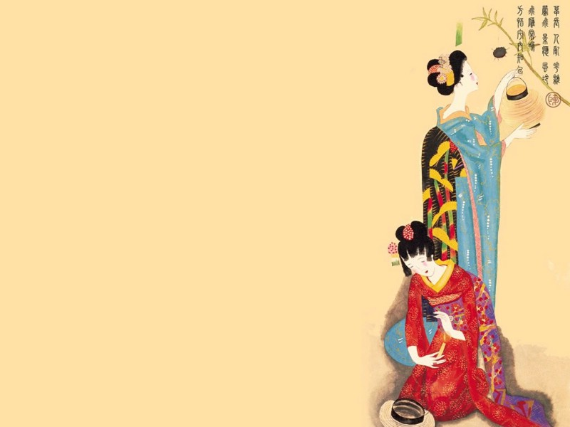古代仕女图壁纸古代仕女图壁纸图片 创意壁纸 创意图片素...