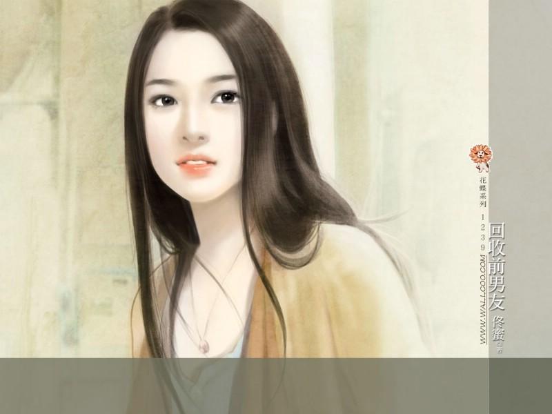 小说手绘女生图片
