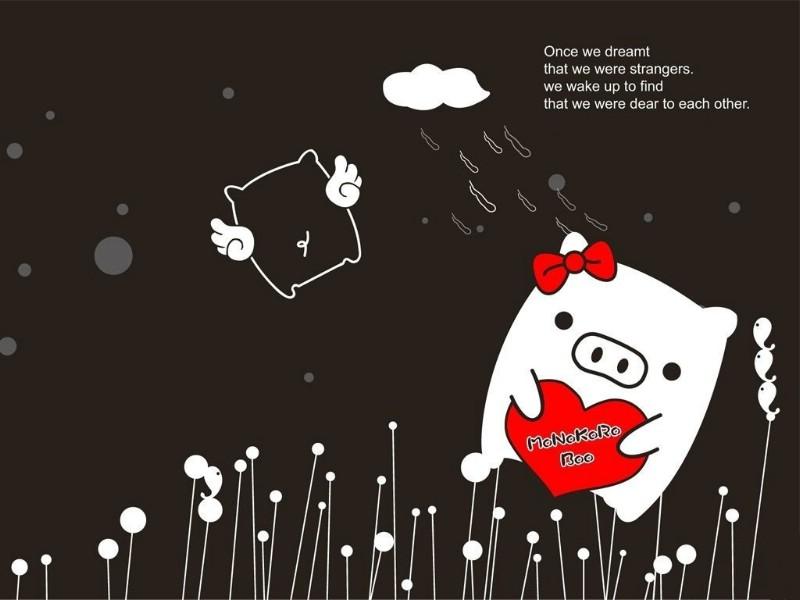 黑白猪 Mono KuRo BOO 壁纸1壁纸 黑白猪 (Mono壁纸 黑白猪 (Mono图片 黑白猪 (Mono素材 动漫壁纸 动漫图库 动漫图片素材桌面壁纸