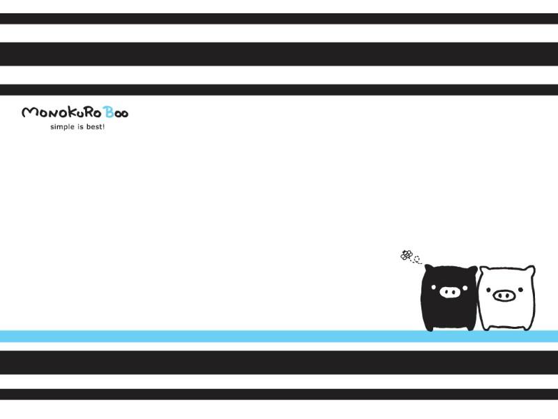 黑白猪 Mono KuRo BOO 壁纸4壁纸 黑白猪 (Mono壁纸 黑白猪 (Mono图片 黑白猪 (Mono素材 动漫壁纸 动漫图库 动漫图片素材桌面壁纸
