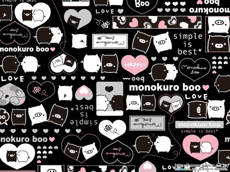 黑白猪 Mono KuRo BOO 壁纸7壁纸 黑白猪 (Mono壁纸 黑白猪 (Mono图片 黑白猪 (Mono素材 动漫壁纸 动漫图库 动漫图片素材桌面壁纸