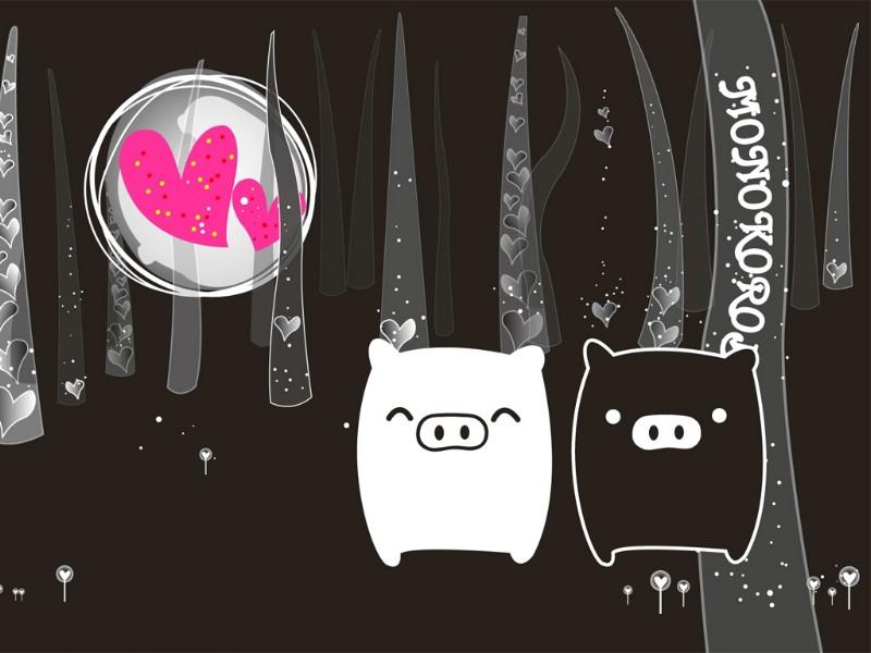 黑白猪 Mono KuRo BOO 壁纸11壁纸 黑白猪 (Mono壁纸 黑白猪 (Mono图片 黑白猪 (Mono素材 动漫壁纸 动漫图库 动漫图片素材桌面壁纸