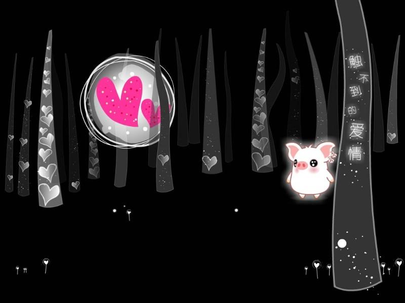 黑白猪 Mono KuRo BOO 壁纸13壁纸 黑白猪 (Mono壁纸 黑白猪 (Mono图片 黑白猪 (Mono素材 动漫壁纸 动漫图库 动漫图片素材桌面壁纸