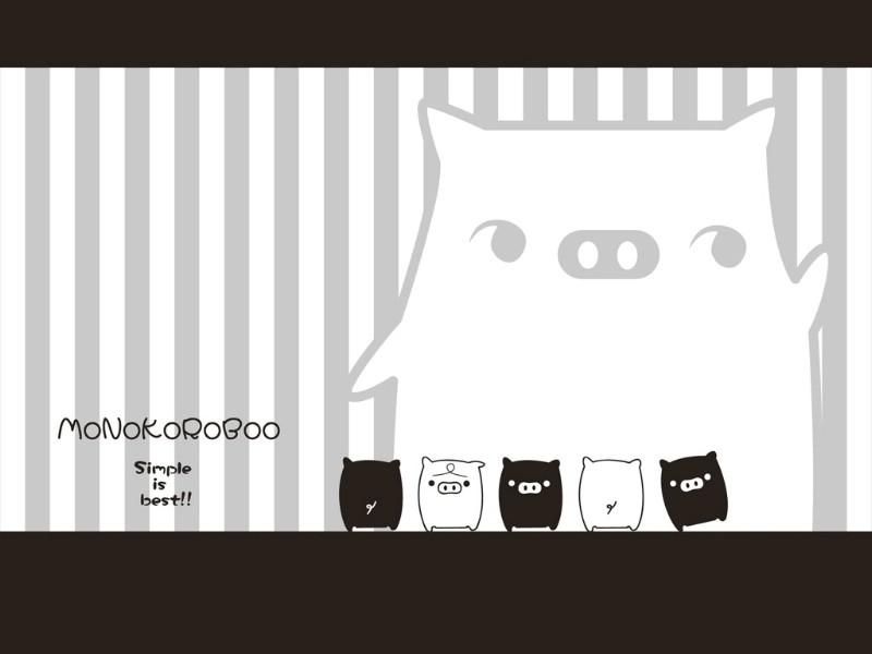 黑白猪 Mono KuRo BOO 壁纸14壁纸 黑白猪 (Mono壁纸 黑白猪 (Mono图片 黑白猪 (Mono素材 动漫壁纸 动漫图库 动漫图片素材桌面壁纸