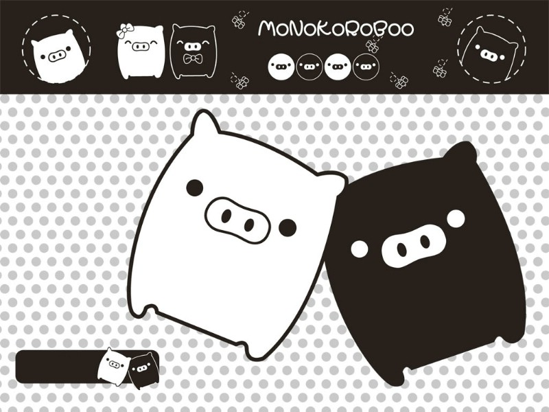 黑白猪 Mono KuRo BOO 壁纸16壁纸 黑白猪 (Mono壁纸 黑白猪 (Mono图片 黑白猪 (Mono素材 动漫壁纸 动漫图库 动漫图片素材桌面壁纸