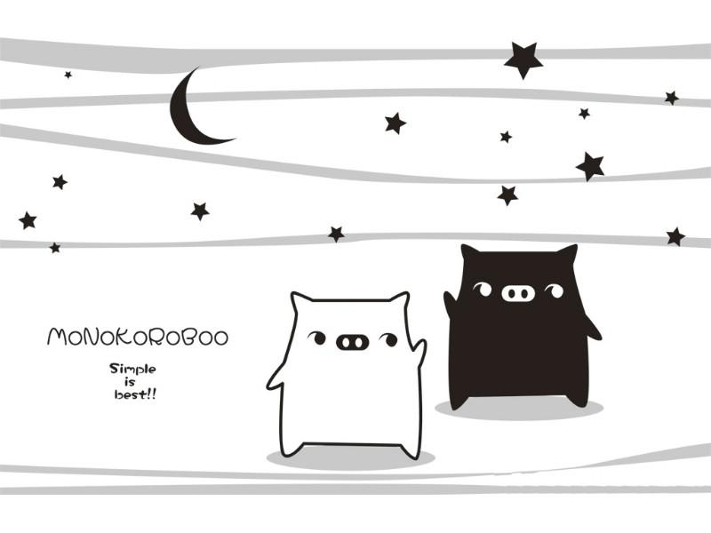 黑白猪 Mono KuRo BOO 壁纸18壁纸 黑白猪 (Mono壁纸 黑白猪 (Mono图片 黑白猪 (Mono素材 动漫壁纸 动漫图库 动漫图片素材桌面壁纸