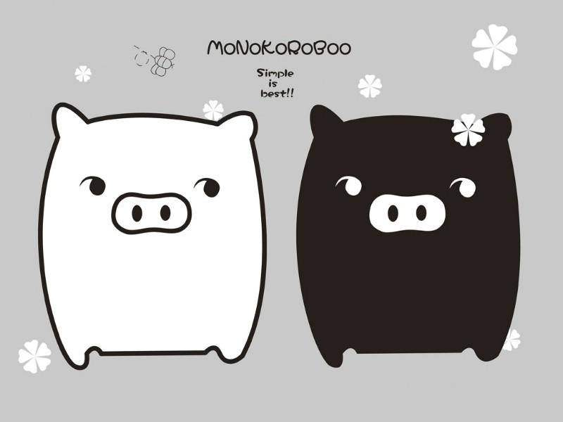 黑白猪 Mono KuRo BOO 壁纸20壁纸 黑白猪 (Mono壁纸 黑白猪 (Mono图片 黑白猪 (Mono素材 动漫壁纸 动漫图库 动漫图片素材桌面壁纸