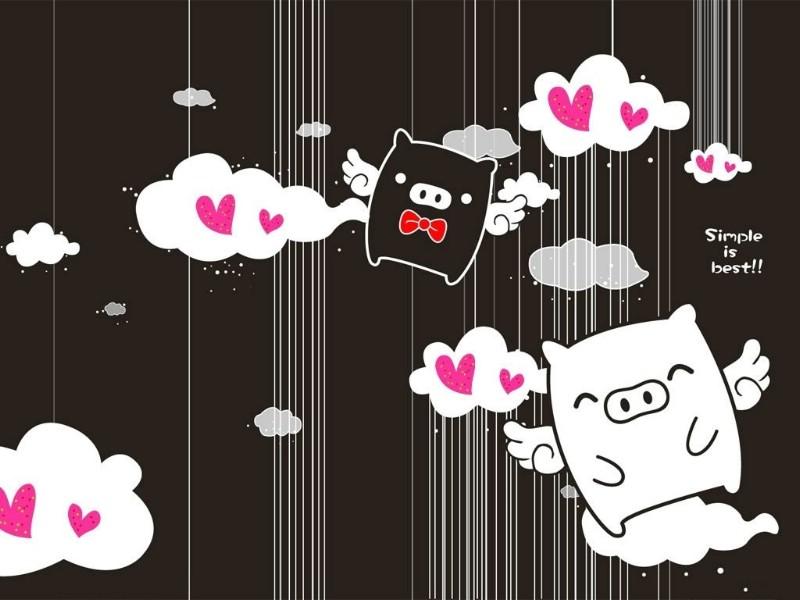 黑白猪 Mono KuRo BOO 壁纸22壁纸 黑白猪 (Mono壁纸 黑白猪 (Mono图片 黑白猪 (Mono素材 动漫壁纸 动漫图库 动漫图片素材桌面壁纸