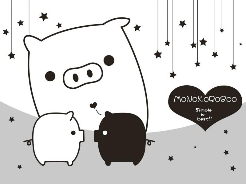 黑白猪 Mono KuRo BOO 壁纸23壁纸 黑白猪 (Mono壁纸 黑白猪 (Mono图片 黑白猪 (Mono素材 动漫壁纸 动漫图库 动漫图片素材桌面壁纸