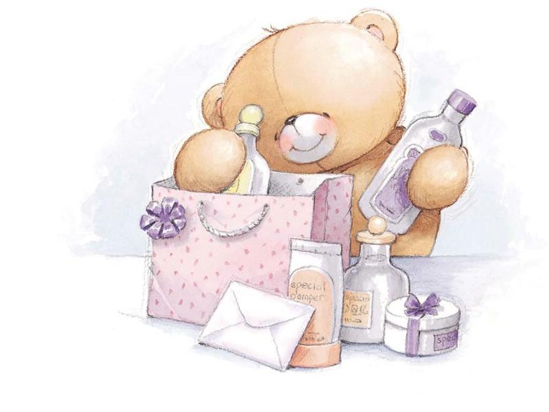 拥抱幸福的小熊 - 可爱宝贝