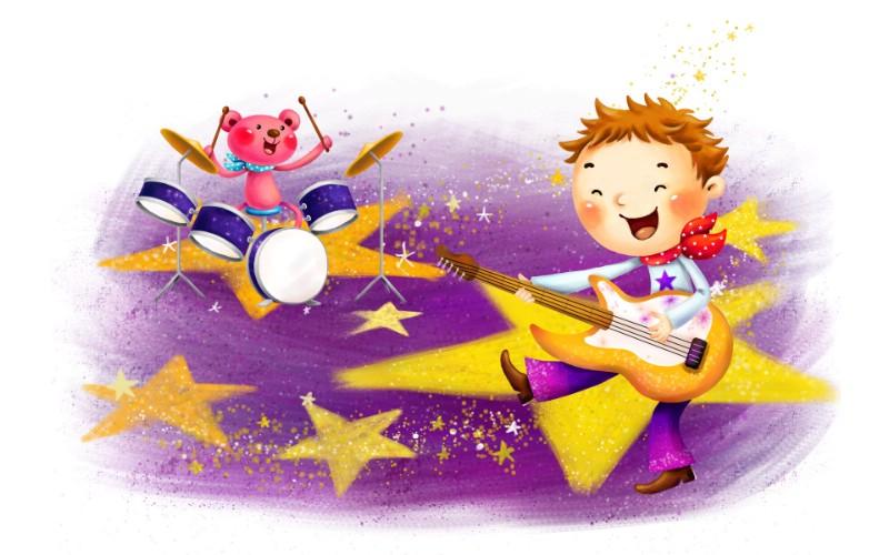 六一国际儿童节可爱卡通宽屏壁纸