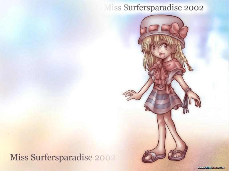 日本CG壁纸 Miss Surfersparadise 壁纸 2002 第二辑 日本...