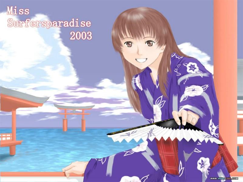 日本CG壁纸 Miss Surfers paradise 壁纸 2003 一 日本动...