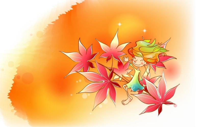 秋天的童话 橙色卡通宽屏壁纸 壁纸4壁纸 秋天的童话 橙色卡通壁纸 秋天的童话 橙色卡通图片 秋天的童话 橙色卡通素材 动漫壁纸 动漫图库 动漫图片素材桌面壁纸