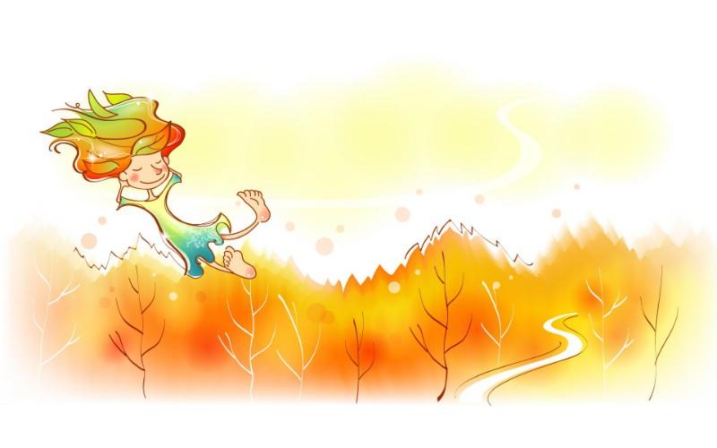 秋天的童话 橙色卡通宽屏壁纸 壁纸11壁纸 秋天的童话 橙色卡通壁纸 秋天的童话 橙色卡通图片 秋天的童话 橙色卡通素材 动漫壁纸 动漫图库 动漫图片素材桌面壁纸