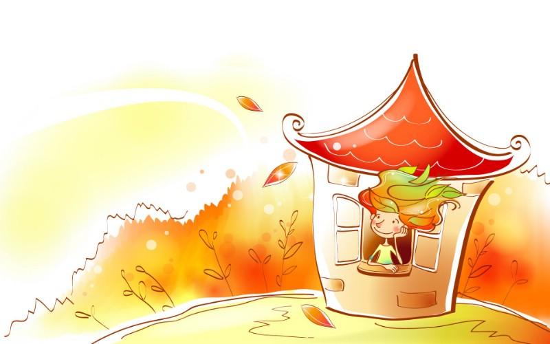 秋天的童话 橙色卡通宽屏壁纸 壁纸12壁纸 秋天的童话 橙色卡通壁纸 秋天的童话 橙色卡通图片 秋天的童话 橙色卡通素材 动漫壁纸 动漫图库 动漫图片素材桌面壁纸