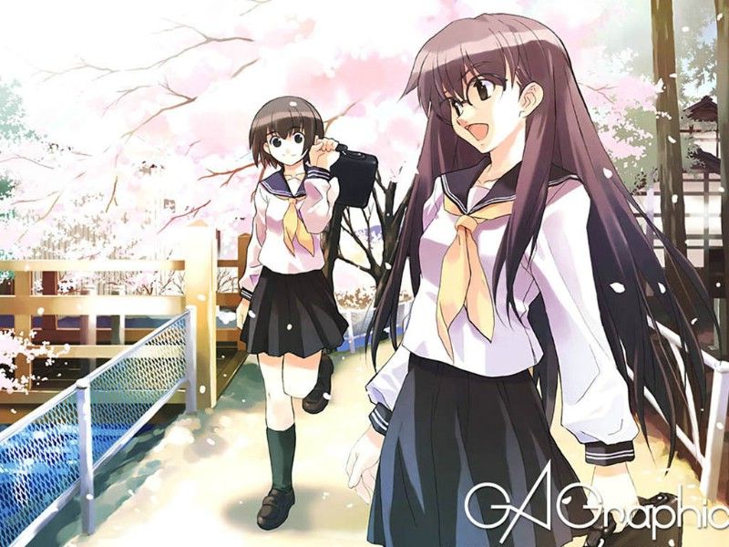 日本漫画美壁纸少女+三女生第一次给图片