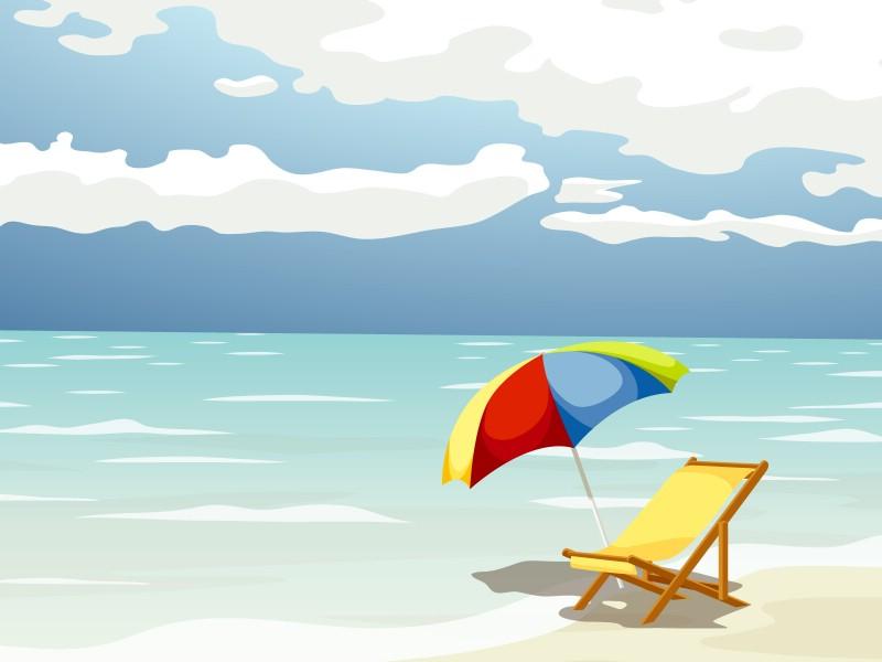 沙滩动漫图片_沙滩简笔画