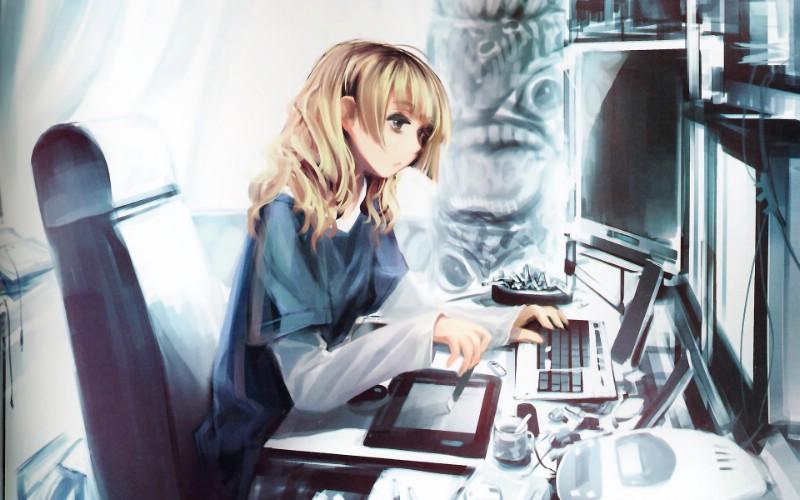日本CG美少女画集扫描壁纸壁纸,同人CG美少女画集扫描壁...
