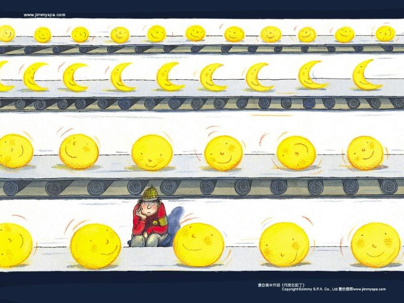 月亮忘记了:几米漫画素材
