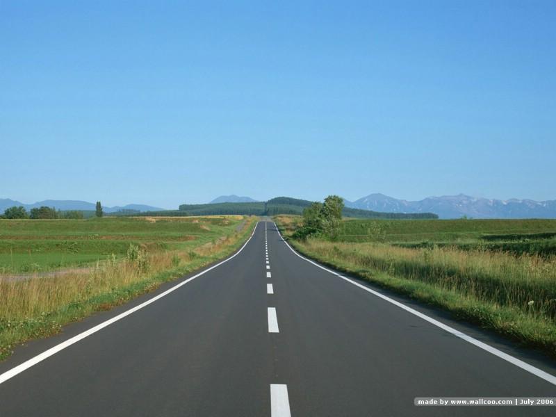 简约大气公路风景