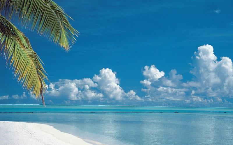 库克群岛 热带海滩壁纸壁纸 地球瑰宝自然风景