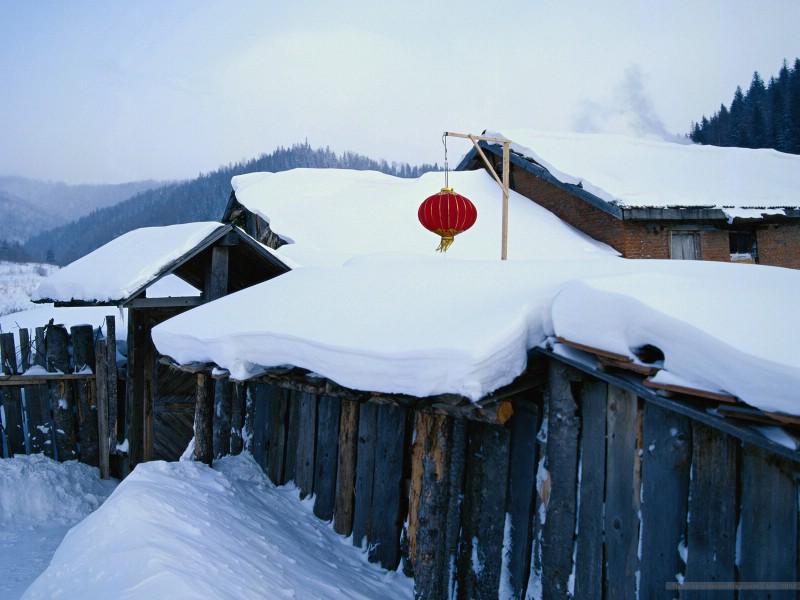 冬天下雪的图片