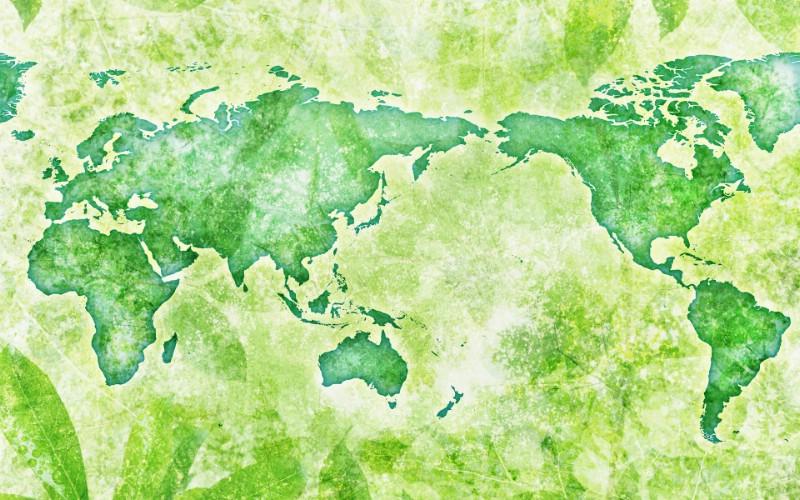 绿色地球 - 绿色生活环境主题ps壁纸