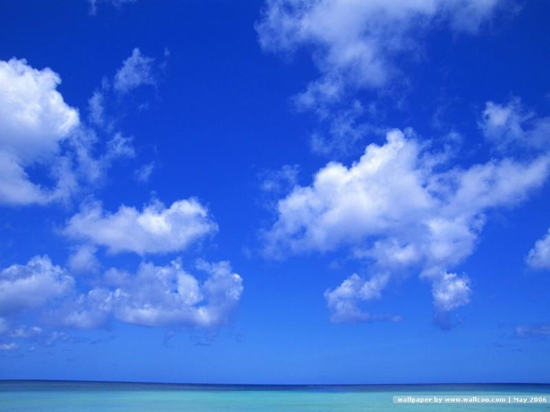 晴朗天空 蓝天白云 原野的天空 晴朗天空图片 Wallpaper Blue Sky壁图片