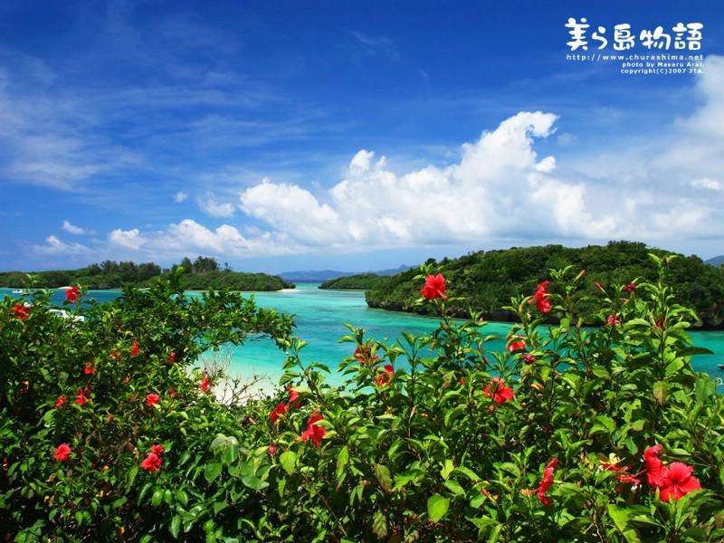 日本冲绳海滩壁纸美丽岛物语三素材 风景壁纸 风景图库 风景图片素材