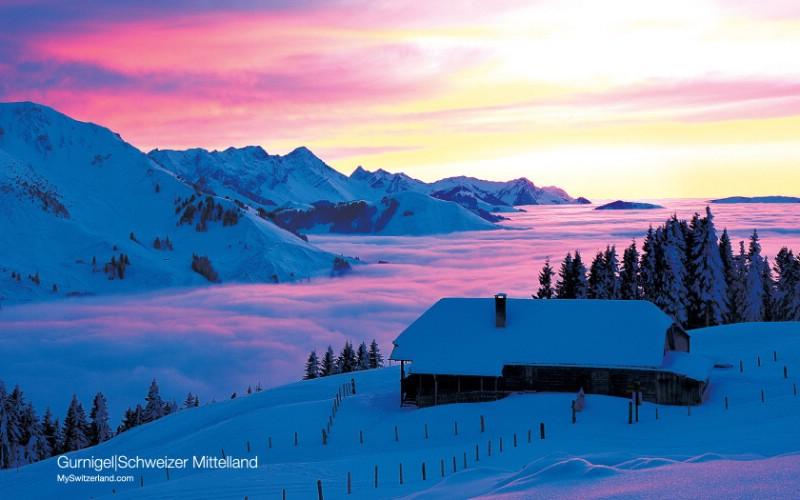 瑞士冬季旅游景点壁纸,瑞士冬季旅游景点壁纸,风景壁纸