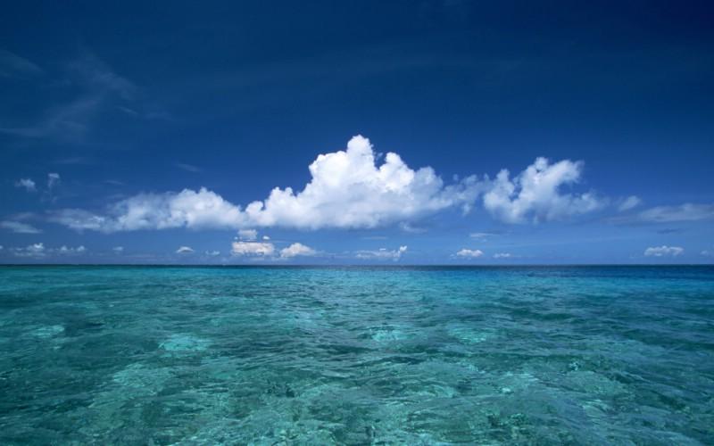 夏威夷的碧海蓝天 Hawaii 夏威夷海滩图片 蓝天 海水 阳光壁纸,夏威图片