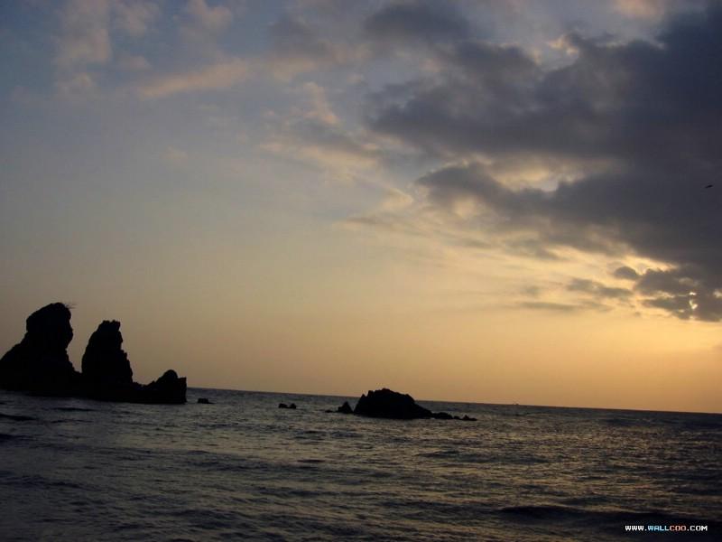 专题摄影壁纸 之 日出日落 云海篇 海上日出日落景色图片 ...